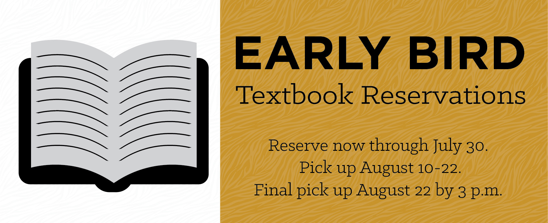 Reserve Your Textbooks