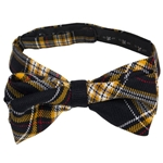 Mizzou Official Plaid Hand-Tie Bow Tie