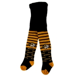 Mizzou Infant Girls Oval Tiger Head Black Knee High Tights