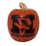 Mizzou Orange Resin Pumpkin