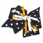 Black & Gold Polka Dot Hair Bow