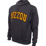Mizzou Felt Charcoal Hooded Sweatshirt