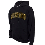 Mizzou Satin Black Hooded Sweatshirt