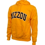 Mizzou Felt Gold Hooded Sweatshirt
