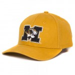 Mizzou Tiger Head Gold Adjustable Hat