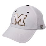 Mizzou Block M White Stretch-Fit Hat