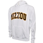Mizzou Felt White Hooded Sweatshirt