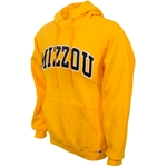 Mizzou Satin Gold Hooded Sweatshirt