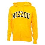 Mizzou Gold Full Zip Hooded Sweatshirt
