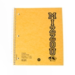 5 Subject Mizzou Spiral Notebook with Tigerhead