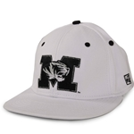 Mizzou Tiger Head White Fitted Hat