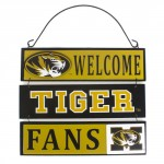 Mizzou Welcome Tiger Fans Black & Gold Sign