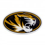 Mizzou Oval Tiger Head Magnet