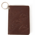 Mizzou Tiger Head Brown Leather ID Holder