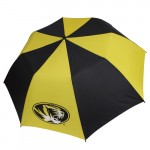"Mizzou Oval Tiger Head 58"" Black & Gold Umbrella"