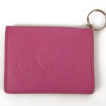 Mizzou Pink Tiger Head Leather ID Holder