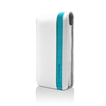 CASE IPHONE 4 ACCENT WHITE TURQUOISE MARWARE