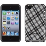 CASE IPOD TOUCH 4G FITTED TARTANPLAID WHITE SPECK
