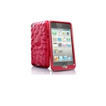 CASE TOUCH 4 PEBBLE BLAZE RED ISKIN