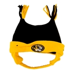 Mizzou Infant Oval Tiger Head Black & Gold Bunny Knit Beanie