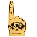 Mizzou Oval Tiger Head Foam Finger