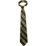 Mizzou Oval Tiger Head Black & Gold Plaid Tie