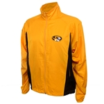 Mizzou Men's Oval Tiger Head Sideline Gold Wind Jacket