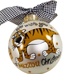Mizzou Truman Glass Ornament