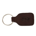 Missouri Tigers Brown Leather Tiger Head Embossed Keychain