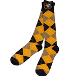 Mizzou Argyle Black and Gold Socks
