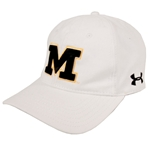 Mizzou Under Armour Block M White Hat