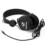 Missouri Tigers Black On-Ear Headphones with Microphone