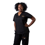 Mizzou Nursing Imprinted Two-Pocket Scrub Top