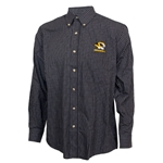 Mizzou Antigua Tiger Head Black & White Box Pattern Shirt
