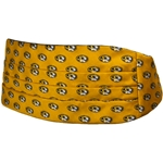 Mizzou Oval Tiger Head Gold Cummerbund