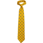 Mizzou Oval Tiger Head Gold Silk Tie