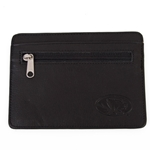 Mizzou Flat Leather Wallet - Black