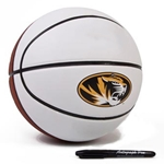 Missouri Rawlings Oval Tiger Head Autographable Basketball