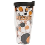 Mizzou Black & Gold Polka Dot Tumbler
