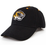 Mizzou SEC Black Velcro Adjustable Hat