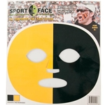 Mizzou Black & Gold Face Tattoo