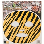 Mizzou Black & Gold Tiger Stripe Face Tattoo