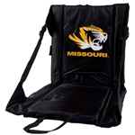 Missouri Tiger Head Portable Black Stadium Seat
