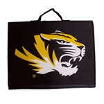 Mizzou Tiger Head Black Stadium Cushion