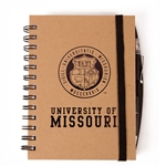 University of Missouri Official Seal Tan Notebook & Pen Set
