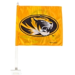 Mizzou Oval Tiger Head SEC Gold Window Flag