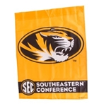 Mizzou Oval Tiger Head SEC Gold Vertical Flag