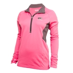 Mizzou Pink Under Armour Semi-Fitted Cold Gear 1/2 Zip Sweatshirt