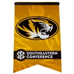 Mizzou Oval Tiger Head SEC Gold Banner