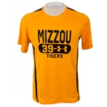 Mizzou Under Armour Zone 4 Gold Heat Gear Loose Fit T-shirt